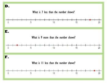 Number Sense Task Cards Using a Number Line