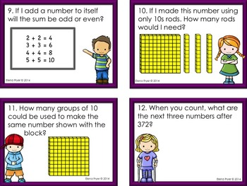 Number Sense Task Cards for 2nd Grade