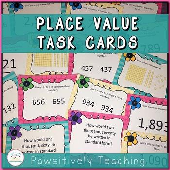 Place Value Task Cards - Number Sense Task Cards