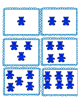 Number Sense Teddy Bear Match Up 1-15