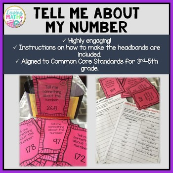 """Number Sense """"Tell Me About My Number"""" - Headbands Game"""