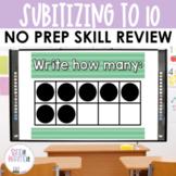 Number Sense Ten Frames 0 to 10 PowerPoint