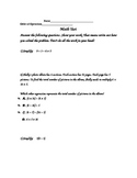 Number Sense Test- 5th Grade