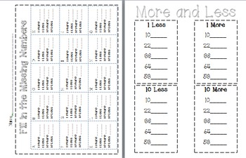 Number Sense {Thanksgiving Fall Themed} Math Center and Activity Sheet
