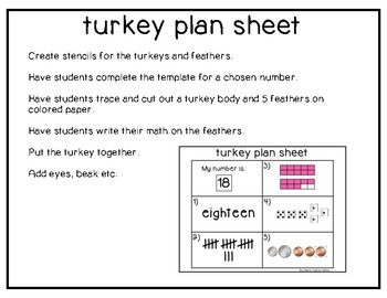 Number Sense Thanksgiving Turkey