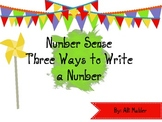 Number Sense: Three Ways to Write a Number Activity