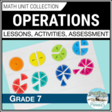 Operations Math Unit (fractions, decimals, integers) - Number Sense - Grade 7
