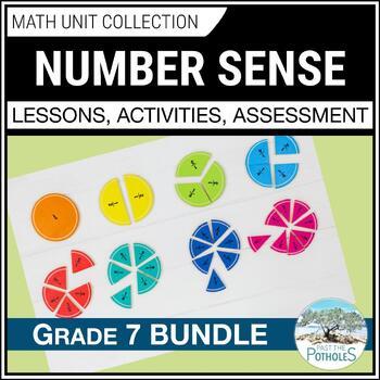 Number Sense Unit Bundle (fractions, decimals, percent) : Grade 7 Math Units