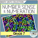 Number Sense Math Unit BUNDLE (factors, fractions, rates) (Grade 7)