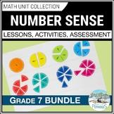 Number Sense Math Unit BUNDLE (factors, fractions, rates) (Grade 7)