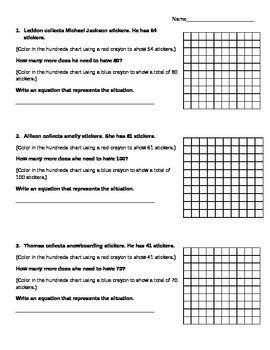 Number Sense Using 100s Chart