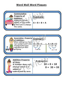 Number Sense Vocabulary