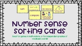Number Sense Vocabulary Sorting Cards