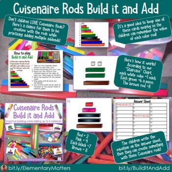 Cuisenaire Rods Bundled Set: Number Sense and Fact Families
