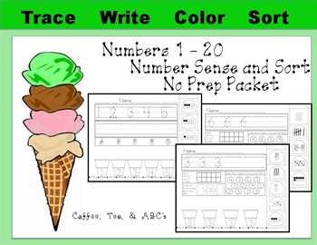 Number Sense With Numbers 1 - 20