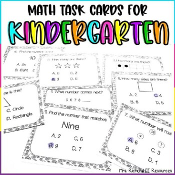Number Sense Word Problem Task Card Freebie