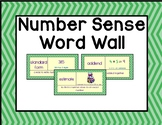 Number Sense Word Wall