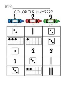 Number Sense Activities 1-10