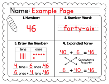 Number Sense Worksheet - Freebie!