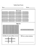 Number Sense Worksheet (K/1)