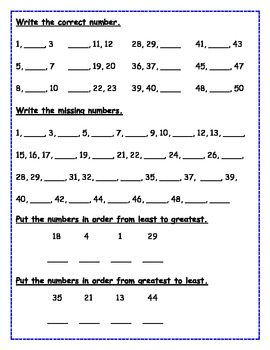 Number Sense Worksheets Freebie