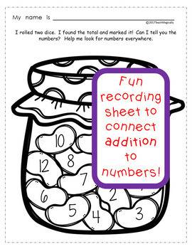Number Sense and Addition Math Games Spring Jellybeans