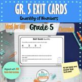 Grade 5 Ontario Number Sense Exit Cards