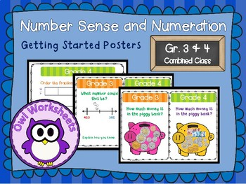 Number Sense and Numeration Getting Started Posters Grade 3 and 4