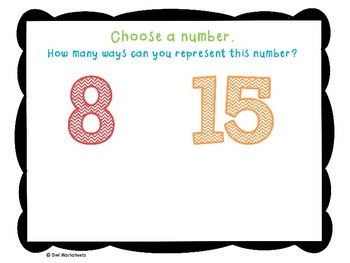 Number Sense and Numeration Getting Started Posters Grade 1