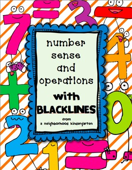Number Sense and Operations Math Pack (INCLUDES BASE 10 for numbers 10-19)