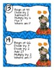 Multi-Step Mental Math Number Sense and Operations Task Cards- FALL THEME