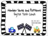 Distance Learning Number Sense and Patterns Digital Task Cards