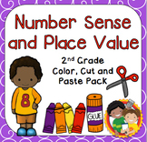 Number Sense and Place Value Color, Cut & Paste Pack for 2nd Grade