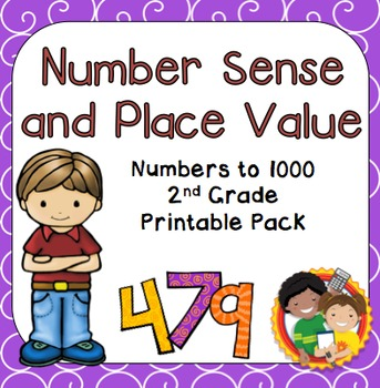 Number Sense and Place Value Printable Pack for 2nd Grade