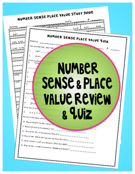 Number Sense and Place Value Study Guide & Quiz