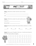 Number Sense and Place Value Unit Test