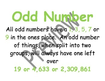 Number Sense and Place Value Vocabulary