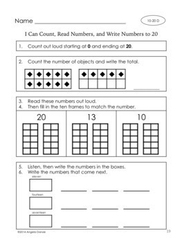 Number Sense and Place Value to 120   {Intervention, Special Ed}