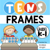 Problem Solving Using Tens Frames (Math Practice Worksheet