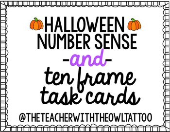 Number Sense and Ten Frame Task Cards