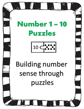 Number Sense and addition puzzles 1 - 10