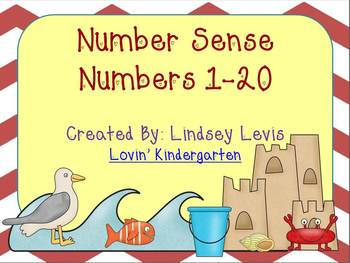 Number Sense for 1-20 {Differentiated, Hands-On Activities with a Beach Theme}
