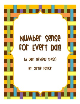 Number Sense for Every Day!