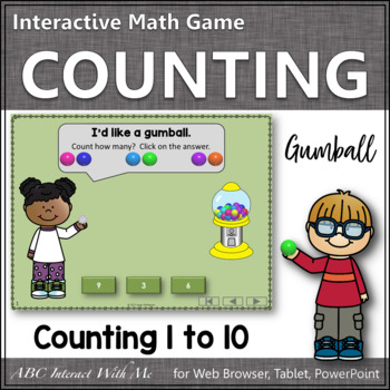 Number Sense to 10 Interactive Math Game {Gumball}