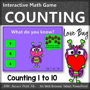 Number Sense to 10 Interactive Math Game {Love Bug}