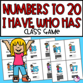 Number Sense to 20 I Have, Who Has