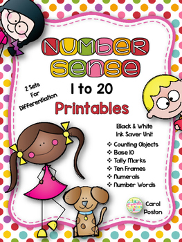 Number Sense to 20 Printables
