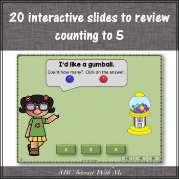 Number Sense to 5 Interactive Math Game {Gumball}
