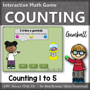 Counting to 5 Number Sense Game ~ Interactive Math Game {Gumball}