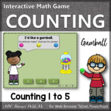 Number Sense to 5 Interactive Math Game {Gumball}